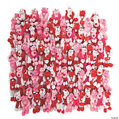 Bulk Valentine Long Arm Stuffed Gorillas