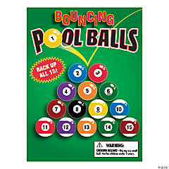 Bulk Vending Machine Bouncing Pool Balls Display Cards
