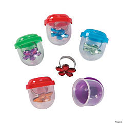 Bulk Vending Machine Capsules with Flower Gem Rings - 1.1""