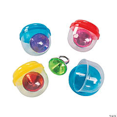 Bulk Vending Machine Capsules with Mega Crystal Rings - 2""