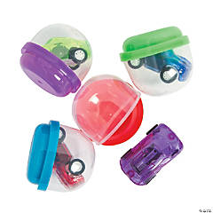 Bulk Vending Machine Capsules with Pull-Back Cars - 2""