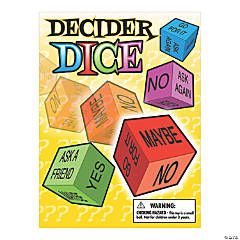 Bulk Vending Machine Display Cards Decision Maker Dice