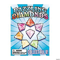 Bulk Vending Machine Display Cards Diamond-Shaped Jewels
