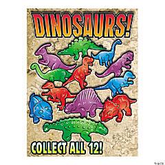 Bulk Vending Machine Display Cards Dinosaurs