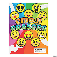 Bulk Vending Machine Display Cards Emoji Erasers