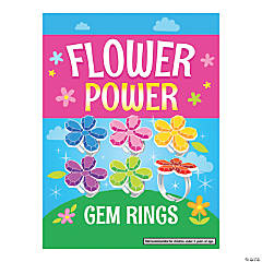 Bulk Vending Machine Display Cards Flower Gem Rings