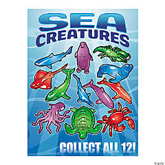 Bulk Vending Machine Display Cards Sea Creatures