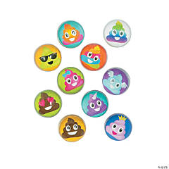 Bulk Vending Machine Poop Emoji Bouncing Balls - 31mm