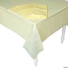 Bulk Yellow Plastic Tablecloths - 12 Pc.