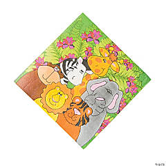 Bulk Zoo Animal Birthday Paper Luncheon Napkins