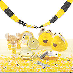 Bumble Bee Tableware Kit for 24 Guests