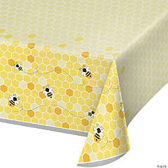 Bumblebee Party Plastic Tablecloth