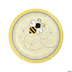 Bumblebee Party Round Paper Dessert Plates