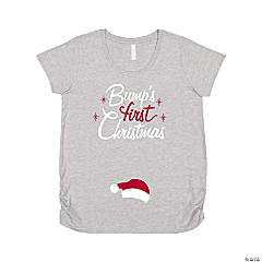 Bump's First Christmas Women's Maternity T-Shirt - Large