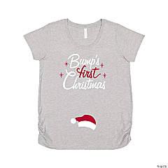 Bump's First Christmas Women's Maternity T-Shirt