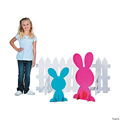 Bunny & Fence Stand-Up