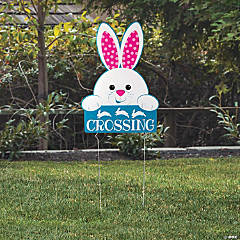 Bunny Crossing Yard Sign