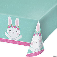 Bunny Party Plastic Tablecloth