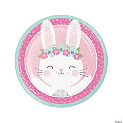 Bunny Party Round Paper Dinner Plates