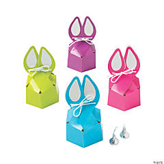 Bunny-Shaped Silhouette Treat Boxes with Bow