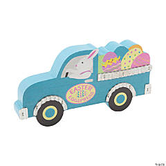 Bunny Truck Tabletop Decoration