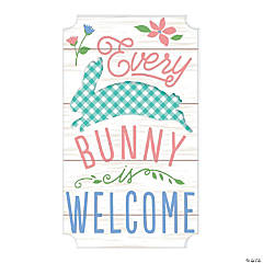 Bunny Welcome Wall Sign