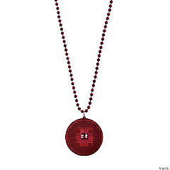 Burgundy Beaded Light-Up Necklaces