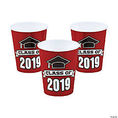 Burgundy Class of 2019 Cups