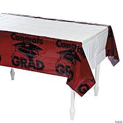 Burgundy Congrats Grad Tablecloth