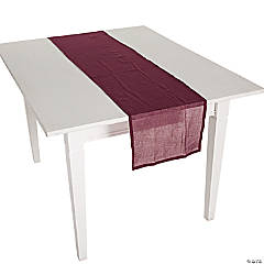 Burgundy Gauze Table Runners
