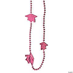 Burgundy Graduation Bead Necklaces