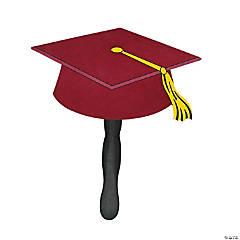 Burgundy Graduation Cap Fans