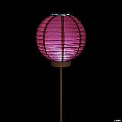 Burgundy Light-Up Paper Lantern Balloons