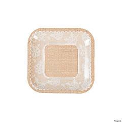 Burlap & Lace Paper Dessert Plates - 8 Ct.