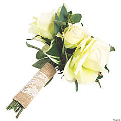 Burlap & Lace Wedding Bouquet Wrap