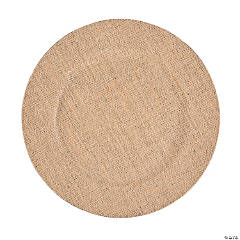 Burlap Wedding Chargers - 6 Ct.