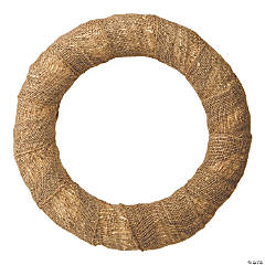 Burlap Wrapped Wreath-18