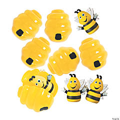 Busy Bee Finger Puppet-Filled Easter Eggs - 12 Pc.