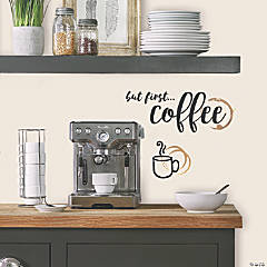 But First Coffee Quote Peel & Stick Wall Decals