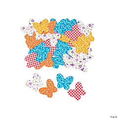 BUTTERFLY FABRIC ADHESIVE SHAPES