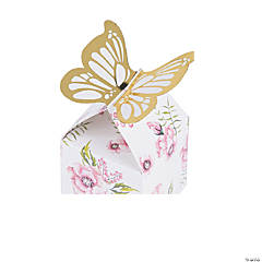 Butterfly Floral Favor Boxes