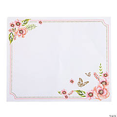 Butterfly Floral Placemats