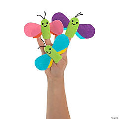 Butterfly Plush Finger Puppets - 12 Pc.