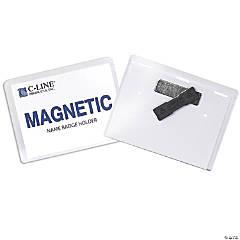 C-Line® Magnetic Name Badge Holder Kit, 20 Pack