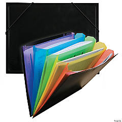 C-Line® Rainbow Document Sorter, Black/Multicolor, Set of 6