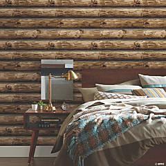 Cabin Logs Peel & Stick Wallpaper