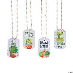 Cactus Dog Tag Necklaces