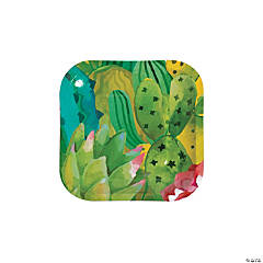 Cactus Party Paper Dessert Plates - 8 Ct.