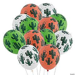 Cactus Print Latex Balloons