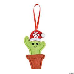 Cactus Santa Hat Ornaments